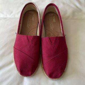 Toms red espadrilles (new)